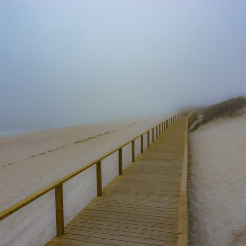 Misty Path by the Beach, Portugal